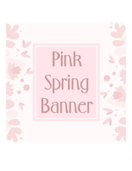 Banner Pink Spring Flowers