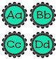 Banners, Center Posters, Alphabet and Number Posters- Teal