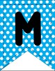 Banners for Classroom Centers: Polka-Dot Themed