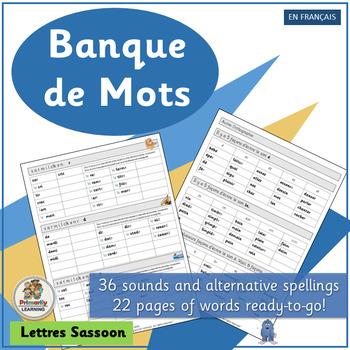 French: Banque de Mots complements Le manuel phonique (SASSOON)