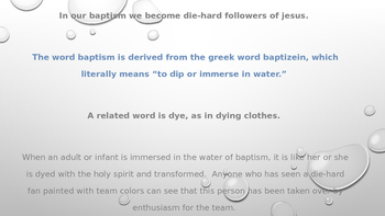 "Baptism and ""Dyeing"""