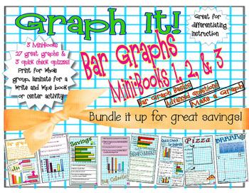 Bar Graphs - Graphing - Graph It!  Mini-Book Bundle 1-3