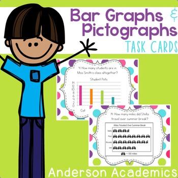 Bar Graphs & Pictographs Task Cards {3.MD.3}