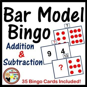 ADDITION / SUBTRACTION Bar Model Bingo - Addition & Subtraction