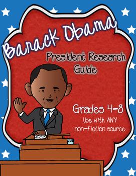 FREEBIE-President Obama Biography: Research Graphic Organizer