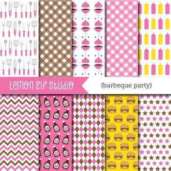 Barbeque Party-Digital Paper (LES.DP39D)