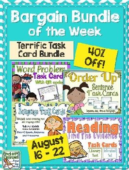 Bargain Bundle of the Week:  Terrific Task Cards