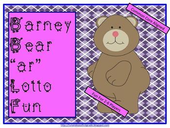 """Barney Bear """"ar"""" Lotto Fun (Common Core Aligned)"""