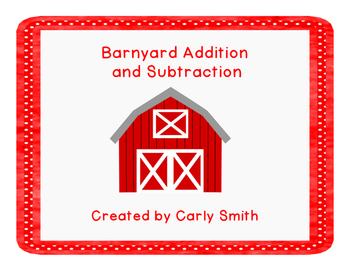 Barnyard Addition and Subtraction