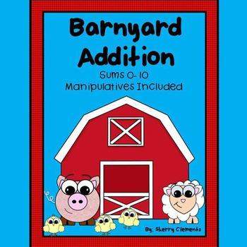 Barnyard Addition with Manipulatives (sums 0-10)