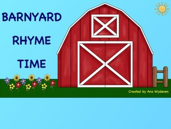 Barnyard Rhyme Time - An Interactive Rhyming Activity for