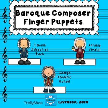 Baroque Composer Finger Puppets (for listening)