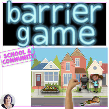 Barrier Games Set 3 Following & Giving Directions Game for