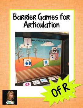 Barrier Games for Articulation of R