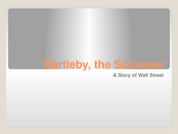 Bartleby the Scrivner group questions activity