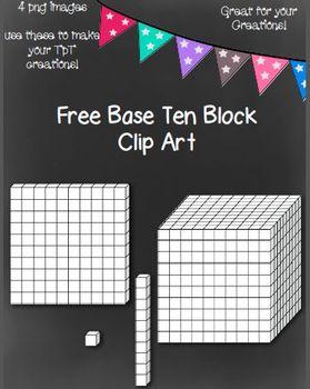 Base 10 Block Clip Art ~ 4 png images