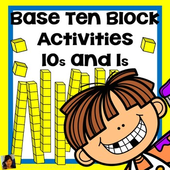 Base Ten Blocks 10s and 1s, Add and Subtract with Multiple