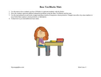 Base 10 Blocks Mats/Simple Place Value Charts
