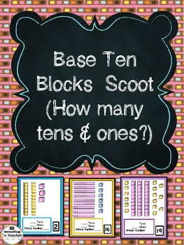 Base 10 Blocks Scoot (How Many Tens & Ones Are There?)