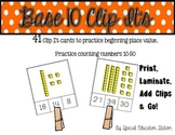 Base 10 Clip It (Simple Place Value Work Task)