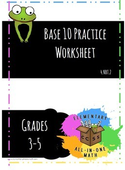 Base 10 Practice Worksheet with Answers
