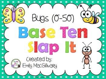 Base Ten (10) Slap It! Bug Themed (0-50)