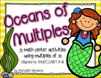 Base Ten Activities {Oceans of Multiples}