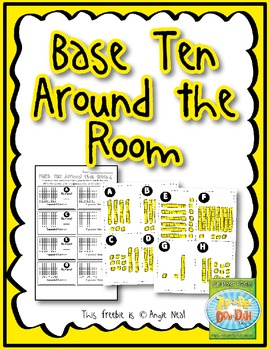 Base Ten Around the Room - FREEBIE!
