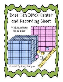 Base Ten Block Center