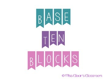 Base Ten Block Poster Pack