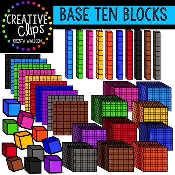 Base Ten Blocks {Creative Clips Digital Clipart}