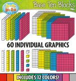 Base Ten Blocks Cube Clip Art Set 1 — Over 25 Rainbow Colo