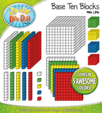 Base Ten Blocks Cube Clip Art Set 3 — Over 25 Rainbow Colo