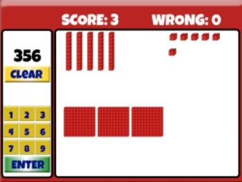Base Ten Blocks - Place Value Game (Playable at RoomRecess.com)