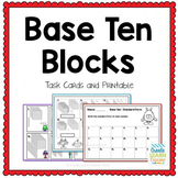Base Ten Blocks and Standard Form Task Cards Math Intervention