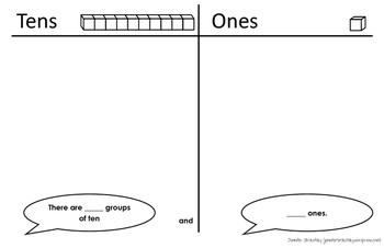Base Ten Mat- Ones and Tens