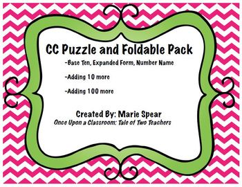 Base Ten Puzzles and Foldable