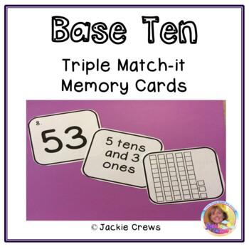 Base Ten Triple Match Math Center