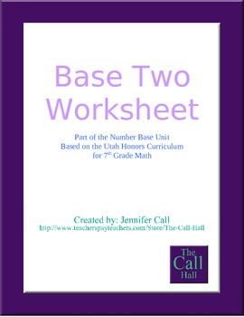 Day 3 - Base Two Worksheet