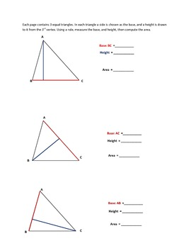 Base and Height of Triangles
