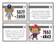 Baseball 4 Digit Subtraction Story Task Cards
