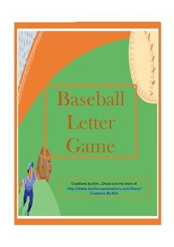 Baseball Alphabet Letter Game
