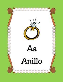 Baseball-Alphabet posters Spanish