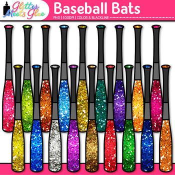 Baseball Bat Clip Art {Sports Equipment for Physical Educa