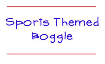 Baseball Boggle: Sports Themed Boggle Game