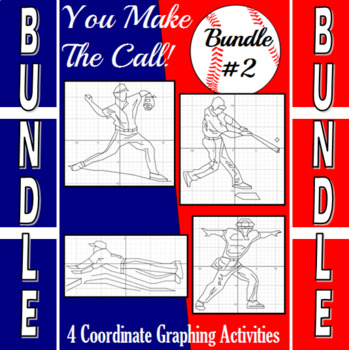 Baseball Bundle #2 - 4 Baseball Coordinate Graphing Activities