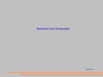 Baseball Card Geography Slide Show