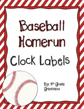 Baseball Clock Labels