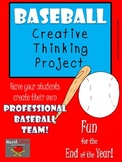 Baseball Creative Thinking Project Activity First Second T