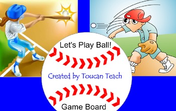 Baseball Diamond Game Board for SMARTBoard